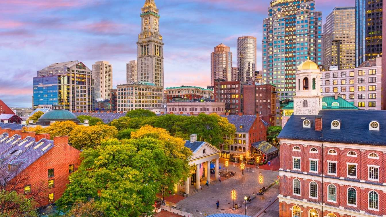 Boston Massachusetts city skyline