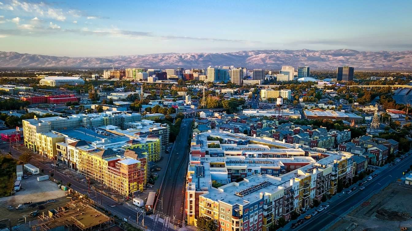 San Jose california city skyline